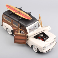 1/18 Scale Miniatures Yat Ming big vintage 1948 Ford Woody woodie classic diecast metal model SURFBOARD Collectable toy car kids