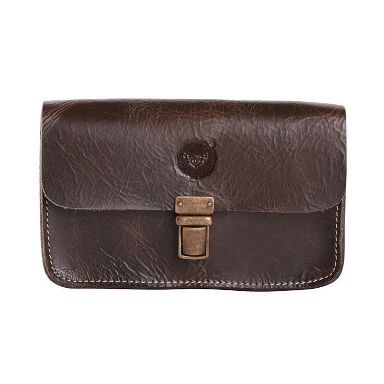 Vintage Crazy Horse Leather Handväska Ny Apple 6PLUS mobiltelefon - Bälten väskor - Foto 2