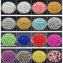 4, 6, 8, 10 мм, имитация жемчуга, акриловые круглые жемчужные разделители, свободные бусины, сделай сам, изготовление ювелирных изделий, ожерелье, браслет, серьги, аксессуары