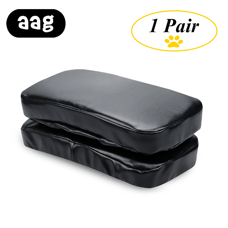 AAG chair Armrest Pads Memory Foam Elbow Pillow Support arm rest covers PU leather Armrest Chair Cushion Pads Elbow Relief pu leather car suv center box armrest cushion console soft pad cushion cover mat memory foam rest pillow armrest supports