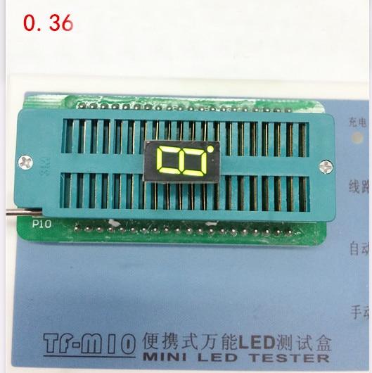 Free Ship 100pc Common Anode 0.36inch Digital Tube 1 Bit Digital Tube Display Yellow-Green Digital Led Tube  Factory Direct