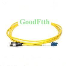 Cable de parche de fibra Jersey FC LC/UPC FC LC UPC SM Duplex GoodFtth 100 500m