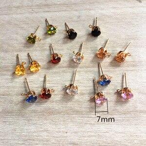 Image 2 - Nuovo arrivo! (Scegliere il colore) 200pcs di rame con vetro rhinest orecchino Della Vite Prigioniera/orecchini accessori/parti Orecchino per monili che fanno