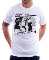 2018 Nieuwe Zomer Stijl Mode T-shirt Han Solo Rebel Scum LP Princess Leia wit gedrukt t-shirt