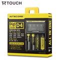 18650 Nitecore D4 Cargador con Pantalla LCD Batería Universal Usb para Smart DiGi 18650/18490/18350/17670/17500/16340/14500