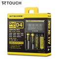 18650 Nitecore D4 Carregador com Display LCD DiGi Universal Usb para Smart Battery 18650/18490/18350/17670/17500/16340/14500