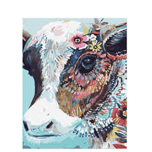 Coloring By Numbers Painting For Living Room,Colorful Cow Pictures Numbers,Modular