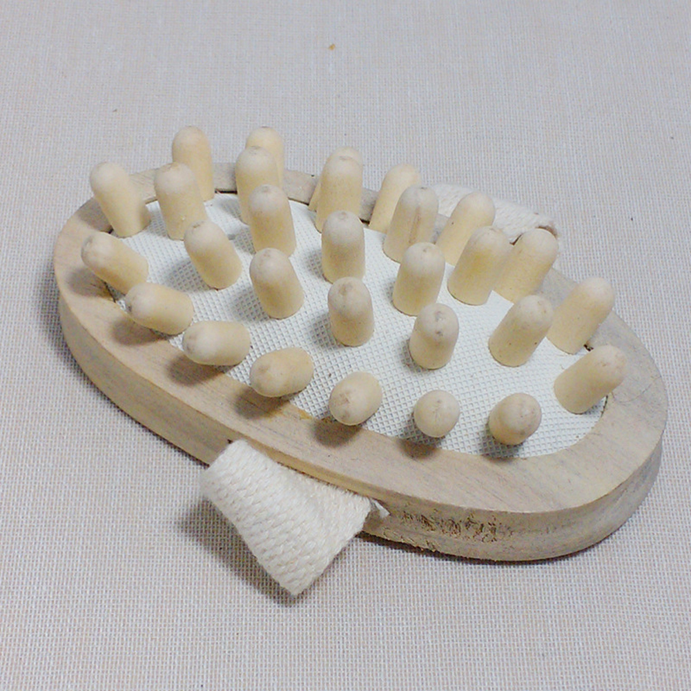New Hand-Held Natural Wood Wooden Massager Body Brush Cellulite Reduction -15 2