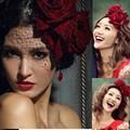 2017 Fashion Veil Wedding Accesories Rose Wedding Veils Romantic Veu De Noiva Vintage Black Bridal Veils Cheap