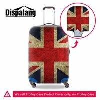 Dispalangファッションユニオンジャック英国米国旗スーツケーストロリーケース保護カバー弾性荷物プロテクター荷物アクセサリ