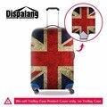 Dispalang moda union jack reino unido bandeira eua acessórios protetores de bagagem bagagem mala trolley caso capa protetora elástica