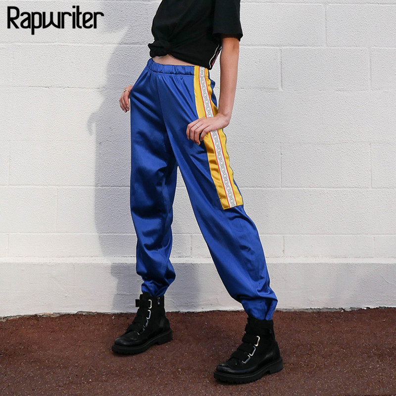 Rapwriter Fashion Chain Pattern Sweatpants Mujeres 2018 Hot Stretch - Ropa de mujer