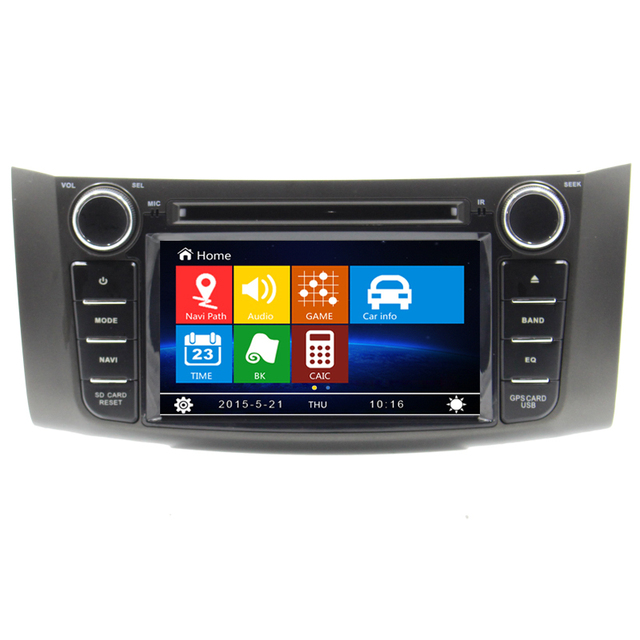 US $212 99 |8 inch Car DVD GPS navigation stereo For Nissan Sylphy Sentra  Pulsar with Bluetooth Ipod TV RDS USB 8GB Sd card map software BT-in Car