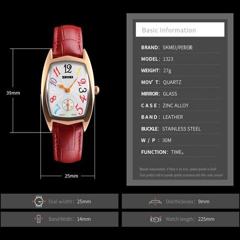 SKMEI Women Watches Top Brand Luxury Famous Quartz Watch Waterproof Leather Ladies Wrist Watches Clock Women Relogio Feminino Multan