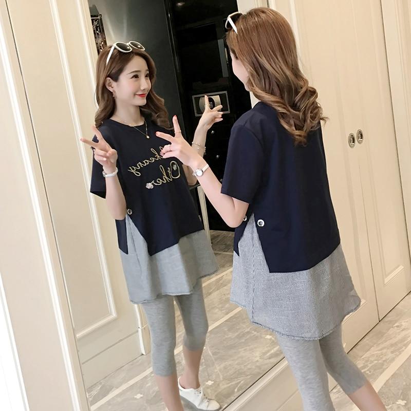 bb98737775dba 2018 New Fashion Maternity Dresses Short Sleeve Cotton Linen Pregnancy Dress  for Pregnant Women Summer Wear Clothes Plus Size   The Brand Shop