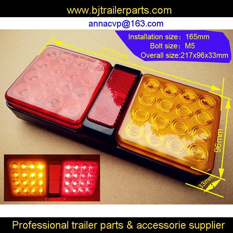 tail LED trailer lights lamp pair boat trailer waterproof submersible 12V trailer parts 2PCS 1PAIR trailer