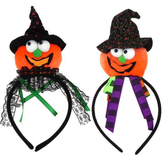 Girls Hairband Halloween Party Pumpkin Cap Look Headwear Hair ...