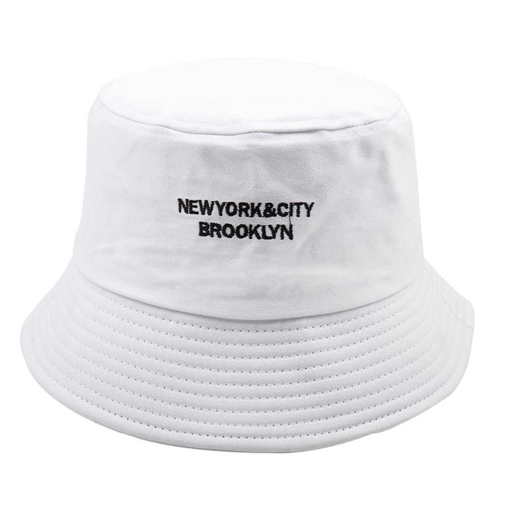 e280583fded ... Men Cotton Bucket Hats For Women Plain Embroidery Letter Caps Fashion  Street Hip Hop Cap Sunscreen ...