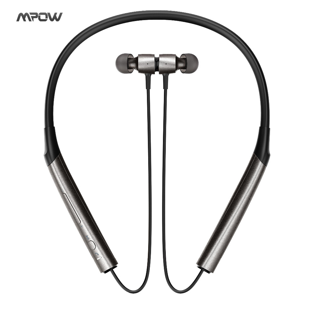 Mpow A1 Bluetooth Headphones Wireless Neckband Headset, Quick-charging Headphones, Hi-Fi Dual Acoustic Chamber Headphones w/ Mi lstn headphones lst12 headphones