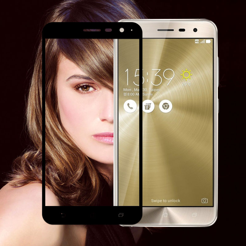 """Phone Screen Protector Glass For Zenfone3 ZE520 KL Protective Film ZE 520KL Full Cover Tempered Glass For ASUS 3 ZE520KL 5.2"""""""