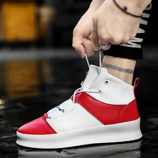 Для мужчин кроссовки 2018 Весна Новые босоножки в стиле хип-хоп ботильоны осень обувь с высоким берцем Для мужчин повседневная обувь Для мужчин плоской подошве обувь на толстой подошве