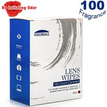 Pre-Moistened Lens Wipe – Rose Scent (100 individually wrapped tissues)