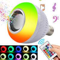 RGB Wireless Bluetooth Speaker Bulb Music Playing Energy Saving RGB Soptlight E27 LED Light Lamp With Remote Control