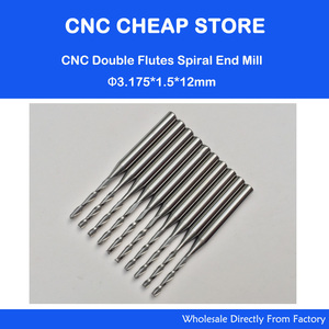 Image 1 - 10x 1.5mm Carbide CNC Double/Two Flute Spiral Bits CEL 12mm end mills engraving router cutters