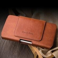 Sacchetto Del Telefono universale Per Huawei Compagno di 20 10 9 P30 P20 P10 Pro Lite Marsupi Clip da Cintura Lavoro Manuale Del Cuoio Genuino copertura del telefono