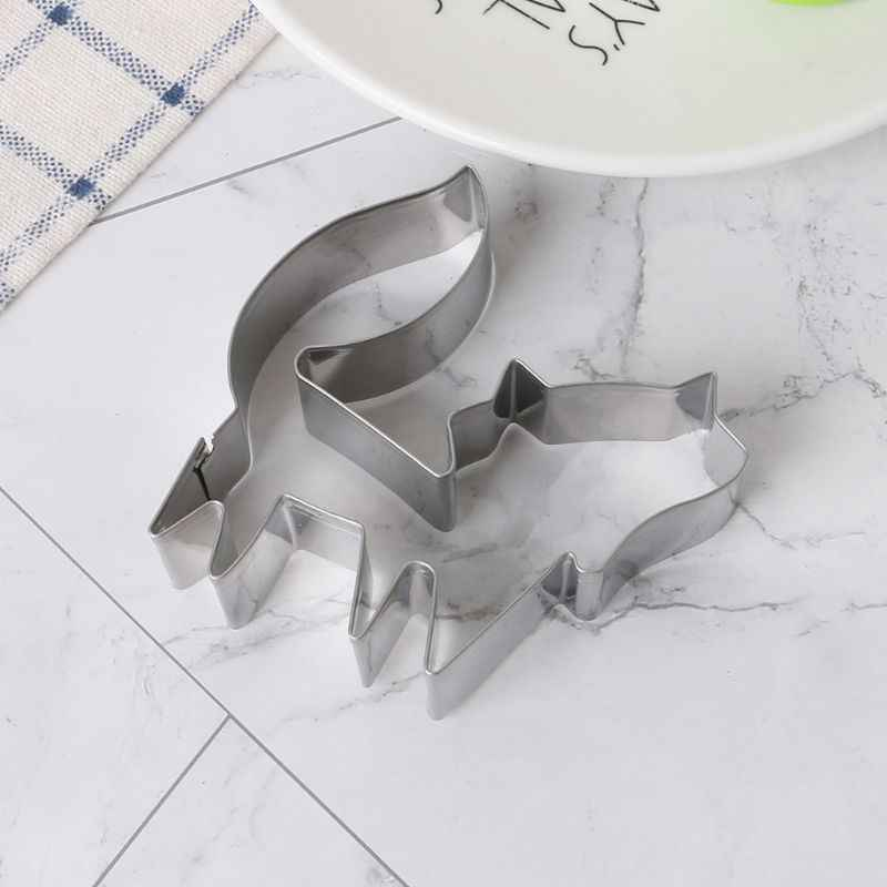 Stainless Steel Cookie Cutters Animal Fox Form Biscuit Decoration Fondant Baking Tools Pastry DIY