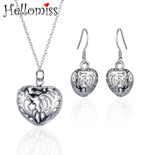 hibride luxury clear cubic zircon women jewelry sets bridal wedding wihte gold color necklace set parure bijoux femme n 280 Wedding Jewelry Sets for Women Hollow Heart Pendant Necklace Earrings 2 Pcs Bridal Jewelry Set Costume Jewelry Femme Bijoux