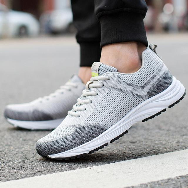 Nueva llegada de BONA, zapatos de correr de estilo Popular para hombres, zapatillas cómodas para caminar al aire libre, zapatos atléticos de cuero de vaca para hombres