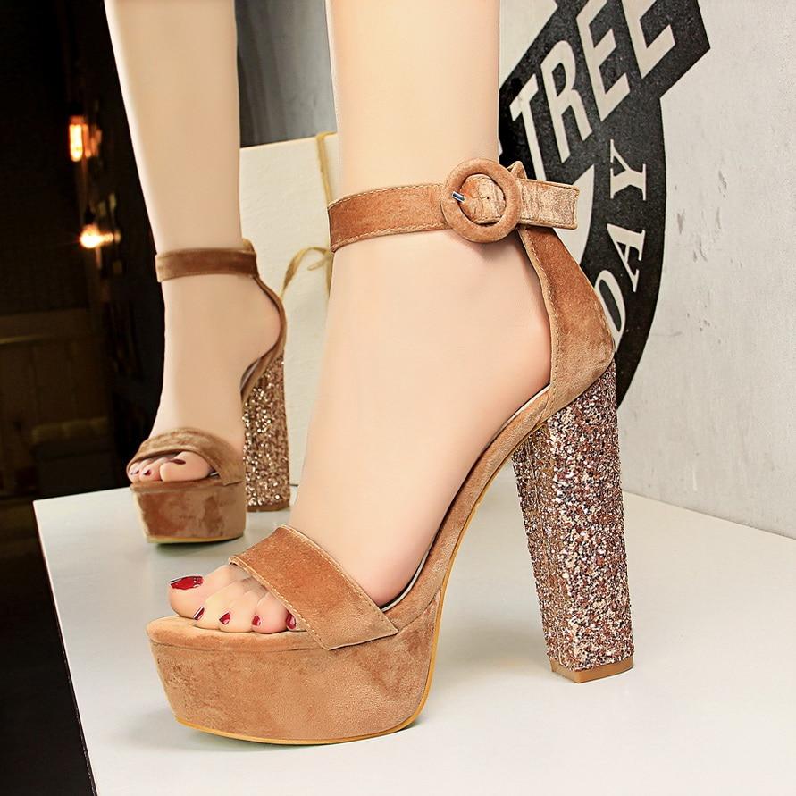 Luxury Brand Women Sandals 2018 Fashion Suede Shoes High Heels 13cm Pumps Sexy Women High Heels Shoes Peep Toe Sandals Shoes luxury brand shoes women peep toe