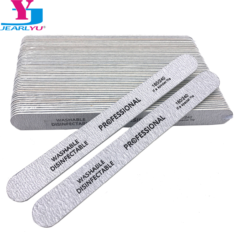 New 50 X High Quality Wood Nail Files Artificial Nail Tips File 180/240 Disposable Cuticle Remover Callus Nail Art Styling Tools