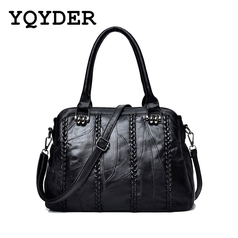 Brand High Quality Women Sheepskin Handbag Famous Designer Messager Crossbody Bag Female Sac Big Bags Casual Tote Bolsa Feminina vogue star women bag for women messenger bags bolsa feminina women s pouch brand handbag ladies high quality girl s bag yb40 422
