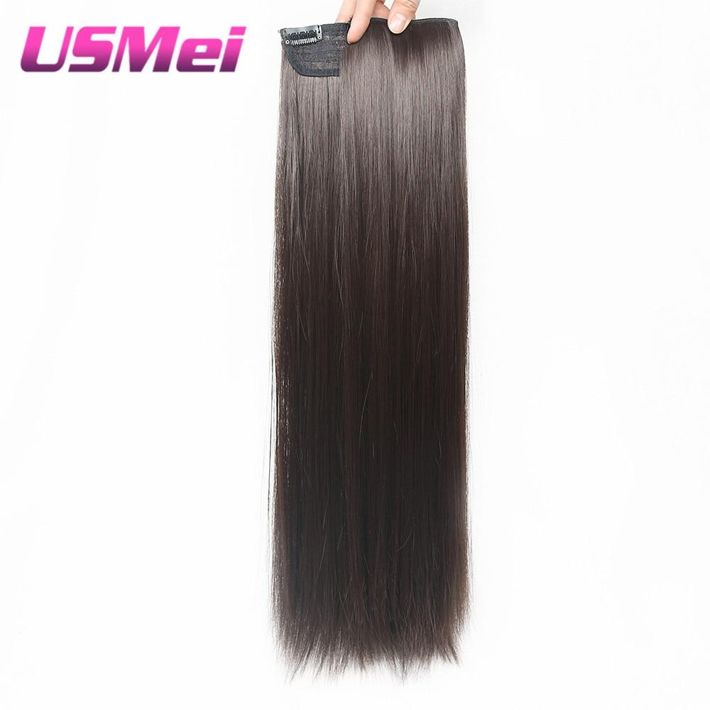 USMEI 5 κλιπ / τεμάχιο Φυσικό ευθεία - Συνθετικά μαλλιά - Φωτογραφία 3