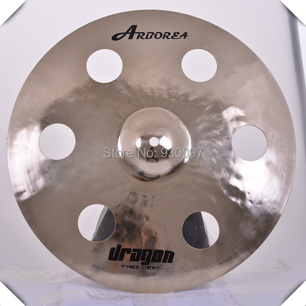 DRAGON 16  HOLE CYMBAL,O-ZONE cymbal for sale high quality b20 cymbals dragon 16 o zone china