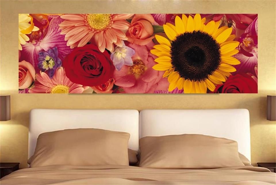 Custom mural wallpaper bed room 3d photo colored rose flowers wide picture painting sofa TV background wall non-woven sticker