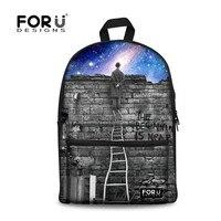 FORUDESIGNS Children Canvas Backpack,2017 Galaxy Printing Kids School Bagpack,Teenagers Boys Girls Rucksacks Woman Backpacks