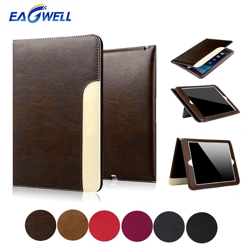 best authentic b0bd4 884ef US $8.92 18% OFF For Apple iPad 2 3 4 Case PU Leather Business Folio Case  Tablet Smart Cover Flip Stand Protective Case for iPad mini 1 2 3 Coque-in  ...