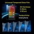 Universal Premium Tempered Glass Screen Protector For Sony BLU Micromax LG BQ UMI Alcatel Wiko Vodafone Guard Film