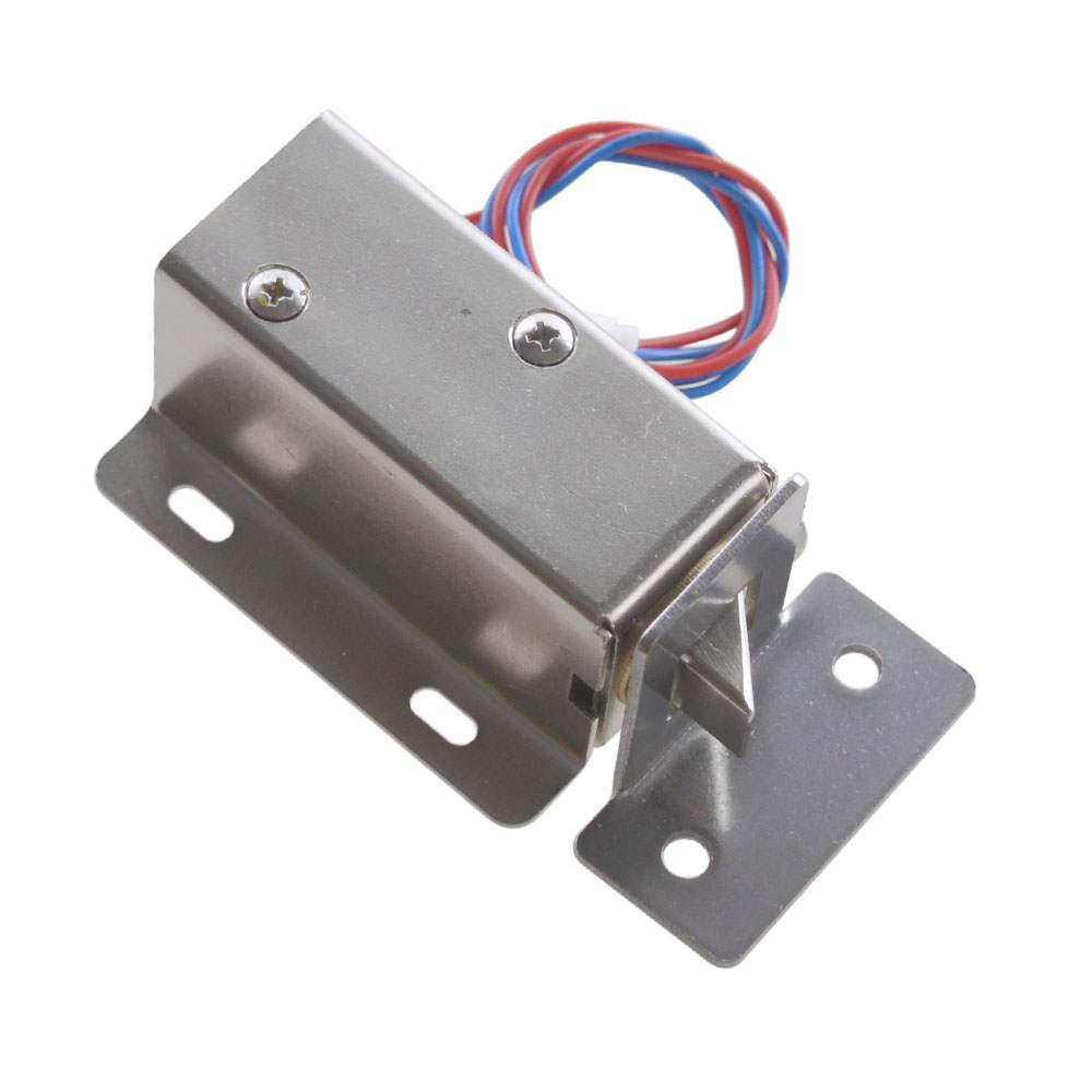 12V-24V Generic Cabinet Door Electric Lock Tongue Right Assembly Solenoid with Lock Buckle 12v cabinet case electric solenoid magnetic lock micro safe cabinet lock storage cabinets electronic lock file cabinet locks