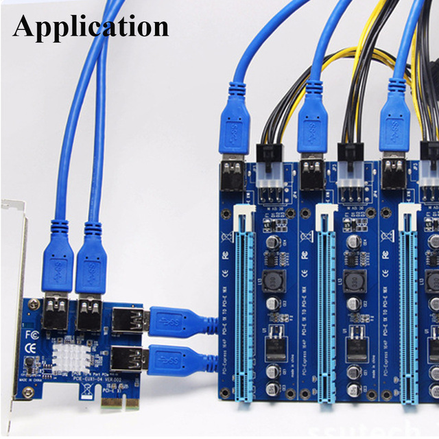 USB 3.0 PCI-E PCI Express 1 to 4 Multiplier Card Express For DOS Linux Windows 7 8 10 1x to 16x Extender Riser Card Adapter PCIE