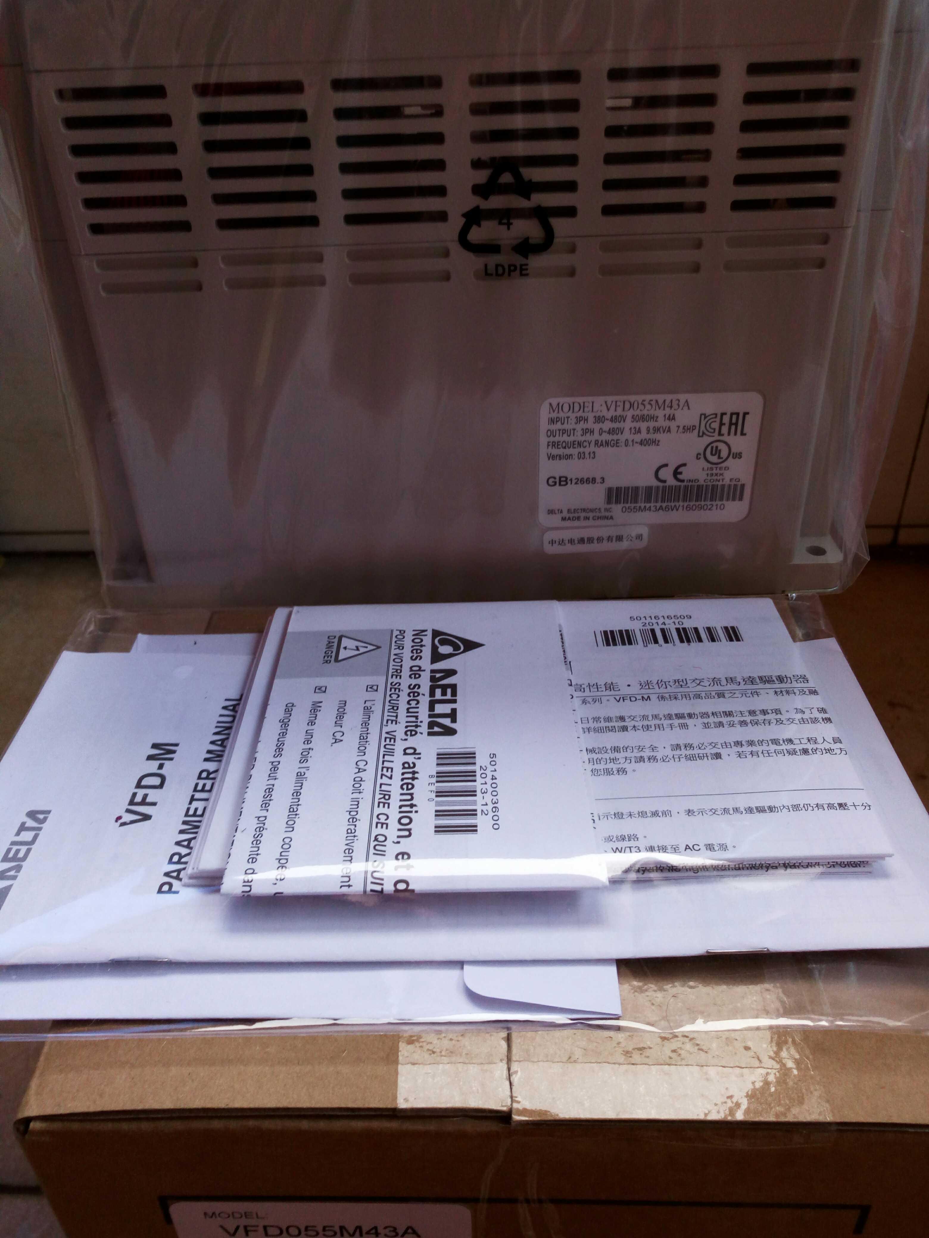 New Original Genuine VFD055M43A 5.5KW380V Inverter
