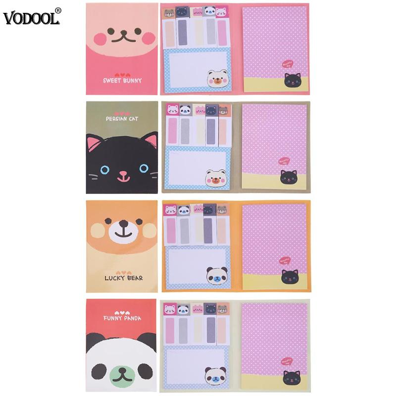 Creative Cartoon Animal Sticky Note Post Self-Adhesive Memo Pad Portable Post-It Notes Kawaii Stationery Papeleria Office School