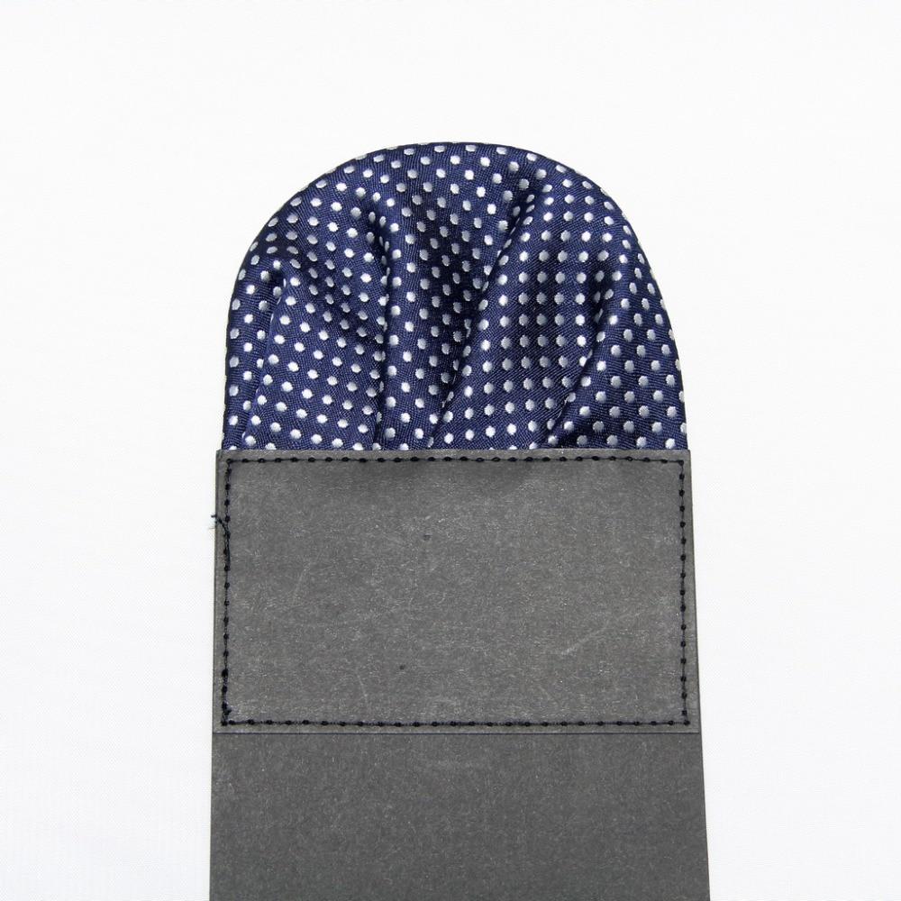 2019 Dotted Men's Prefold Pocket Square Handkerchief Tower Paper Hanky