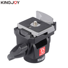 KINGJOY Official KH-6500 Tripod Ball Head Swivel Front-to Back Tilt  Aluminum Mini with plate 1/4 3/8 inch Screw For DSLR Camera