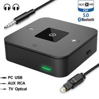 mini Bluetooth 5.0 CSR8675 Aptx HD Low Latency Optical SPDIF Transmitter Receiver RCA Aux 3.5mm Wireless Audio Music TV Adapter