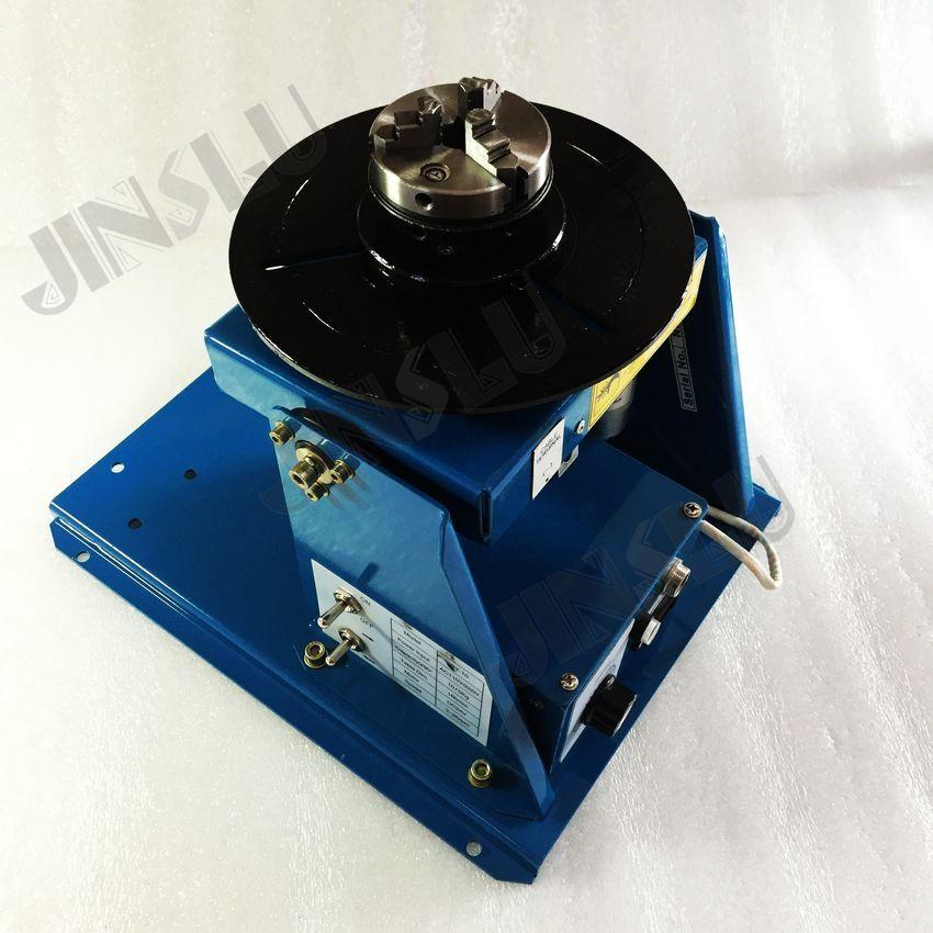 220V utiliza posicionador de soldadura BY-10 10KG con mini mandril con plato giratorio de soldadura con interruptor de pie