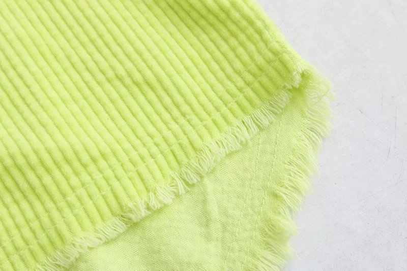 OMCHION Blusas 2019 весенний вельветовый с длинным рукавом пикантные Женские топы и блузки Повседневная Свободная неоновая желтая Корейская рубашка QS470